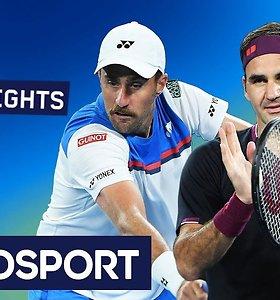 """Australian Open: Rogeris Federeris prieš Steve'ą Johnsoną. Dvikovos akimirkos"