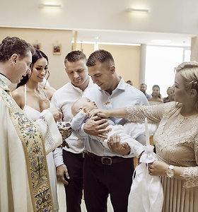 Gretos Lebedevos-Kazakevič ir Aleksandro Kazakevičiaus sūnaus Eldaro krikštynos