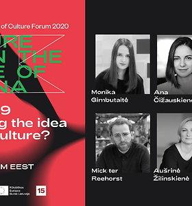 Europos kultūros sostinės forumas: AR COVID-19 META IŠŠŪKĮ GLOBALIOS KULTŪROS IDĖJAI? (en)