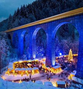 Magiška vieta Vokietijoje – Kalėdų miestelis po senoviniu viaduku