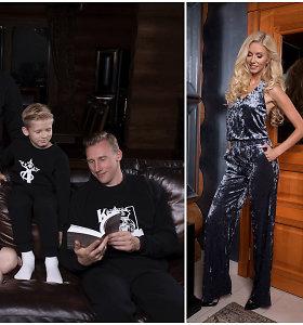 """S.Starkutės surengtos fotosesijos modeliais tapo I.Stumbrienės šeima: """"Teko įkalbėti vyrą"""""""