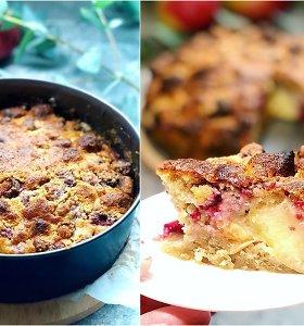 """""""Gal ką skanaus"""" receptas: obuolių pyragas su avietėmis ir marcipanu"""