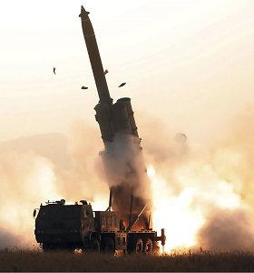 """Šiaurės Korėja perspėjo JAV puolimo atveju panaudosianti """"atitinkamą"""" jėgą"""