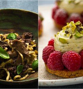 Savaitgalio duetas: naminė pasta su mėsos-grybų padažu ir užburiantis pistacijų desertas