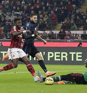 """Milano miesto derbyje tarp """"Milan"""" ir """"Inter"""" užfiksuotos lygiosios"""