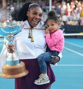 Serena Williams kartu su šeima izoliuosis šešioms savaitėms