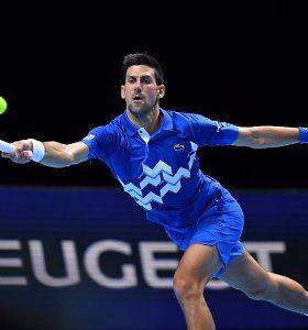 ATP finalų stipriausioji ketveriukė – su N.Džokovičiumi: serbas įveikė A.Zverevą