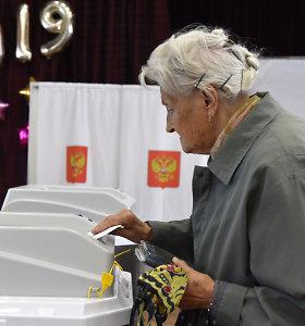 Kremlius neigia, kad per rinkimus Sankt Peterburge buvo sukčiaujama