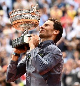 """R.Nadalis apie konkurenciją su R.Federeriu: """"Negali nervintis, kad kaimynas turi didesnį namą"""""""