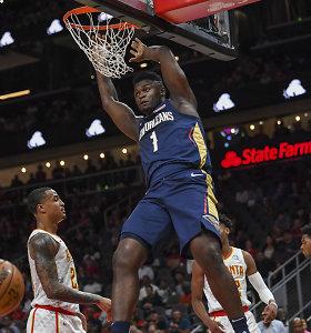 NBA repeticijos: Z.Williamsono efektingas debiutas ir šanso negavęs I.Brazdeikis