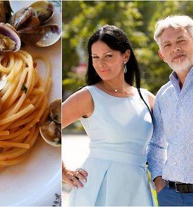 """Vakarienė pas Jurgą ir Paulių. Reikia sureguliuoti kraujo spaudimą? Prašom – midijų """"bruschetta"""" ir spagečiai """"alle vongole"""""""
