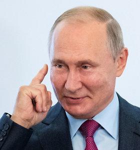V.Putinas keičia retoriką dėl Ukrainos: propagandos iškart mažiau