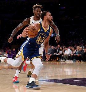 """""""Warriors"""" neprilygo be L.Jameso ir A.Davieso žaidusiai """"Lakers"""""""