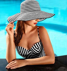 Paplūdimio mada: nuo maudymosi kostiumėlių ir pintų krepšių iki akinių nuo saulės