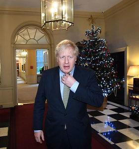 Pergalę rinkimuose iškovojęs B.Johnsonas atvyko į Bakingamo rūmus