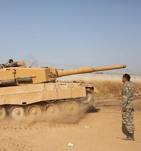 Turkijos pajėgos Sirijoje įsitraukė į smarkius susirėmimus su Damasko pajėgomis
