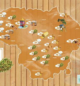 Pristatytas pirmasis Lietuvoje Pirčių žemėlapis
