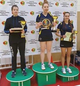 Paaiškėjo Lietuvos stalo teniso TOP-12 pirmenybių nugalėtojai