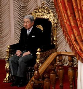 Japonijos imperatorius Akihito paskutinį kartąatliko padėkos už derlių apeigas