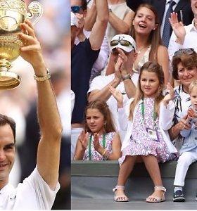 Obuolys nuo obels – R.Federerio atžalos žengia pirmuosius žingsnius tenise