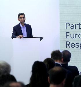 """""""Google"""" vadovui net klausimų nekyla: dirbtinį intelektą būtina reguliuoti"""