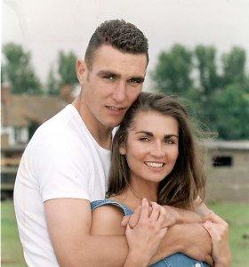 Aktorius Vinnie Jonesas su žmona Tanya