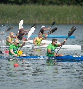 Pasaulio baidarių ir kanojų irklavimo čempionate lietuvių dvivietė užėmė šeštąją vietą