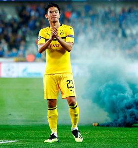 """Tobulas debiutas: """"Borussia"""" palikęs japonas prisistatė įvarčiu po 20-ties sekundžių"""