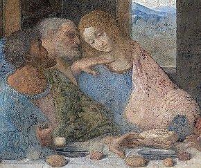 """Wikipedia Commons nuotr./Šv. Jonas Leonardo da Vinci """"Paskutinėje vakarienėje"""""""