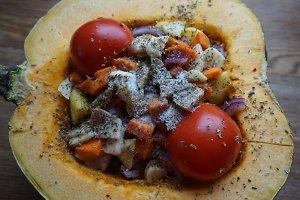 Orkaitėje kepta moliūgų sriuba (Monikos J. receptas)