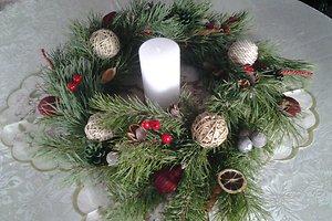 Agnės R. (Kelmės raj.) kalėdinė dekoracija