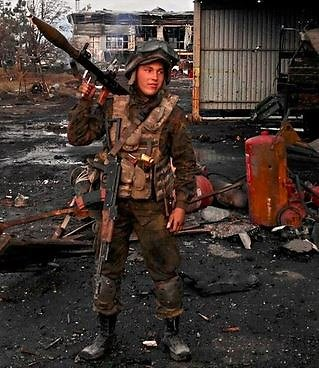 """Facebook"" nuotr./Donecko oro uosto gynėjai"