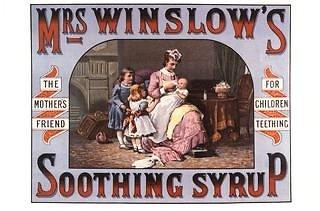 """JAV Sveikatos departamento nuotr./""""Ponios Winslow sirupas"""""""