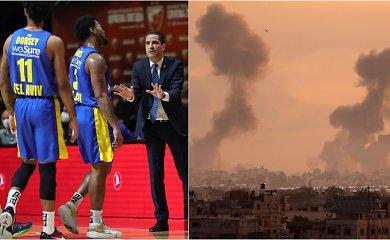 Izraelyje – krepšininkų sujudimas: ieško būdų, kaip pabėgti iš neramumų krečiamos šalies