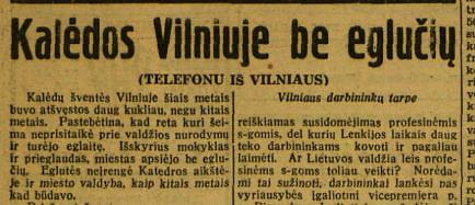 """epaveldas.lt nuotr. /Ištrauka iš 1939 m. """"Lietuvos žinių"""""""