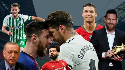 """""""Vieni vartai"""": intrigos ir parodijos Lietuvoje, skandalai, """"El Clasico"""" ir C.Ronaldo uždarbiai"""