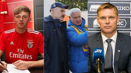 """""""Vieni vartai"""": didžiausios Lietuvos futbolo viltys, """"Atlanto"""" laidotuvės ir E.Jankausko nauja stotelė"""