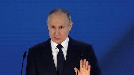 """V.Putinas: keliantys grėsmę Rusijos interesams """"gailėsis, kaip jau seniai nesigailėjo"""
