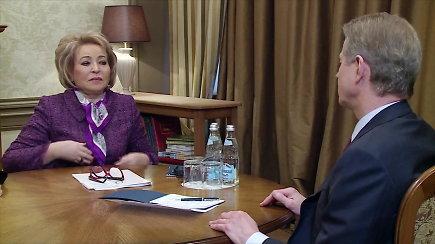 Valentinos Matvijenko ir Rolando Pakso pokalbis Maskvoje
