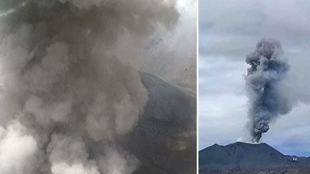 Mokslininkai iš viršaus nufilmavo grėsmingą ugnikalnio išsiveržimo momentą