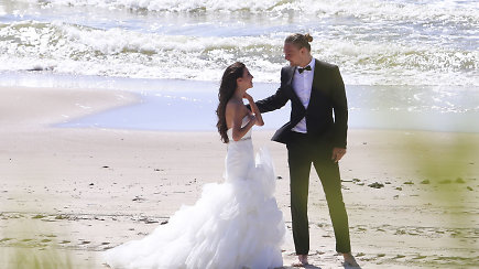 Išskirtiniai kadrai: Tautvydo Sabonio ir Paulinos Olivios Frukacz vestuvių akimirkos