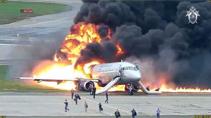 """Rusija paskelbė naują """"Aeroflot"""" katastrofos vaizdo įrašą"""