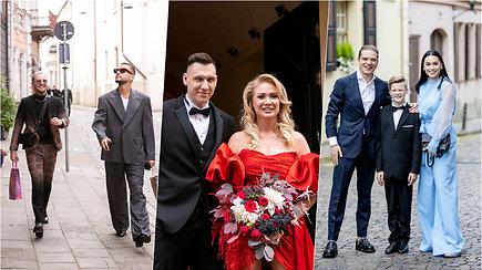 """""""Stikliuose"""" susituokė N.Bunkė ir E.Eidėjus: iš draugų ir šeimos lūpų – šviežiausi įspūdžiai"""