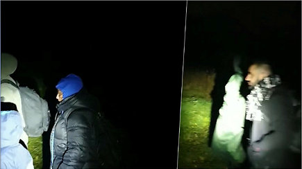 VSAT filmuotoje medžiagoje – į Lietuvą bandžiusi patekti migrantų grupė