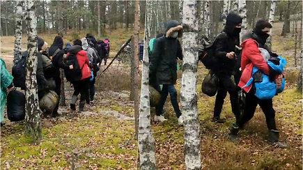 VSAT vaizduose – dar viena į Lietuvą neįleista migrantų grupė