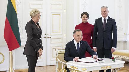 Lietuvos ir Lenkijos prezidentų spaudos konferencija