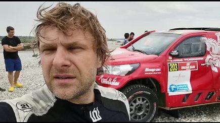 "Benedikto Vanago automobilis ""Italian Baja"" užspringo vandeniu"