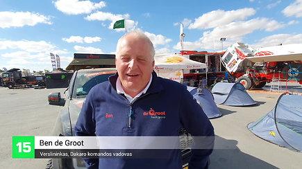 """Dakaro automobiliai: Ben de Groot seka savo komandą galingu """"Ford Raptor"""""""