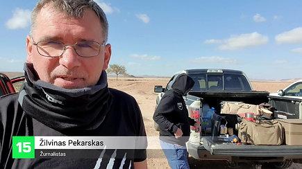 """Dakarsko dienoraštis: ralio gerbėjai per dykumą keliauja galingais """"Ford Raptor"""" automobiliais"""