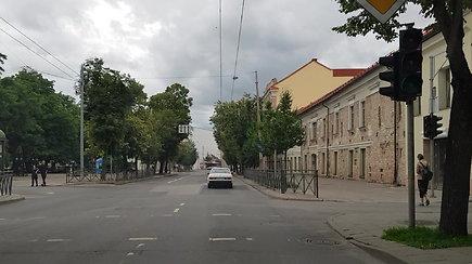Kilpinis eismas Vilniaus senamiestyje, Trakų gatvėje
